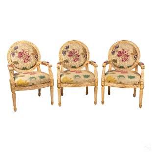 Regency Barbara Beckmann Upholstered Arm Chairs