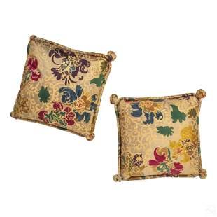 Barbara Beckman Designer Hand Printed Silk Pillows