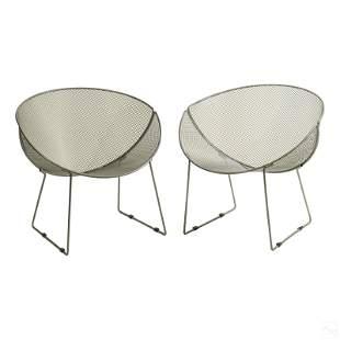 Tempestini Salterini Style Metal Clam Patio Chairs