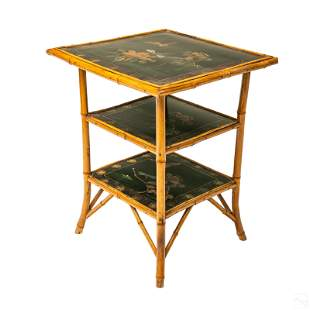 Brighton Pavilion Style Bamboo Tiered Accent Table