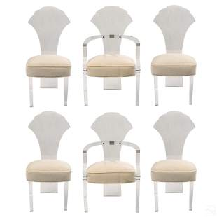 Mid Century Modern Lucite Dining Chairs Set of 6