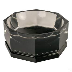 "Mid Century Modern 14"" Deep Octagonal Lucite Bowl"