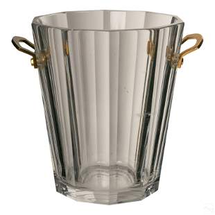 """Baccarat French Crystal 10"""" Maxim Champagne Bucket"""