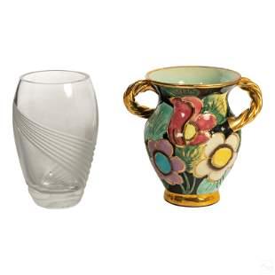 Lenox Crystal & Helen Ugo Lauris Signed Vase Group