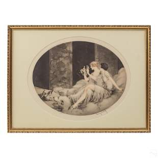 Louis Icart (1888-1950) Petits Chiens Litho SIGNED