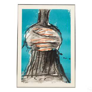 Peter Voulkos 1924-2002 Signed Abstract Lithograph