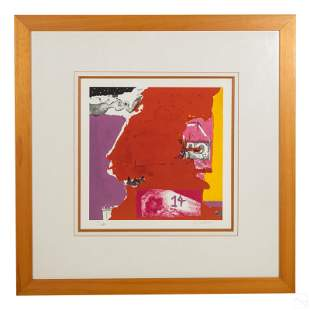 Giovanni Huber b1939 LE Signed Abstract Lithograph