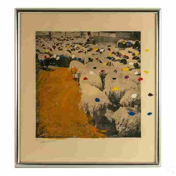 Menashe Kadishman b.1932 Signed Sheep Lithograph