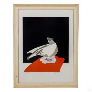 Pat Dypold b.1941 Modern Abstract Bird Lithograph