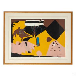 Taura (20 C.) Signed Modern Abstract AP Lithograph