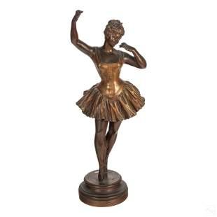 French Antique Bronze Ballerina Dancer Sculpture