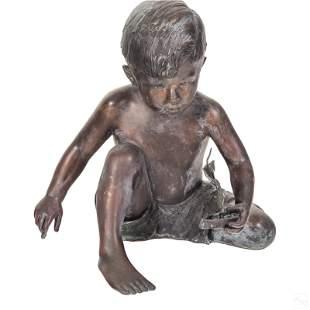 L'Deane Trueblood (b.1928) Bronze Child Sculpture