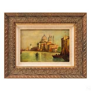 William Meadows 1825-1901 Venice Seascape Painting