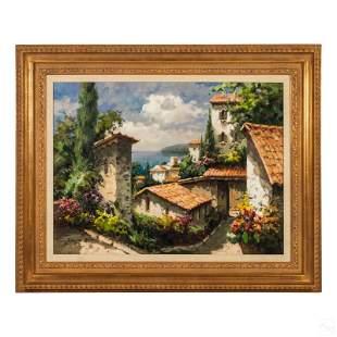 David S Kim b1961 Mediterranean Landscape Painting