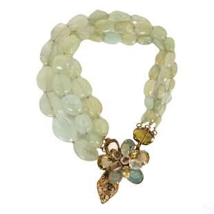 Iradj Moini Designer Aquamarine Citrine Necklace
