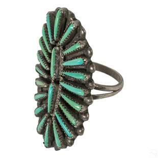 Wallace Zuni Petit Point Sterling & Turquoise Ring
