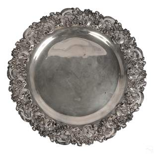 Caldwell Sterling Silver Art Nouveau Platter 2600g