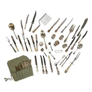 Sterling Silver Lot with Hollow Handles & Servers