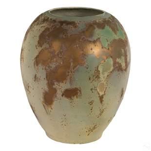 "Tony Evans 17"" Signed Raku Studio Art Pottery Vase"