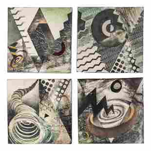 Studio Art Pottery Signed Ceramic Tiles Collection