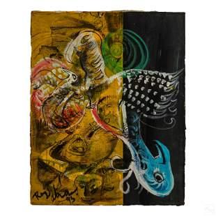 Royi Akavia (b.1956) Abstract Surrealist Painting