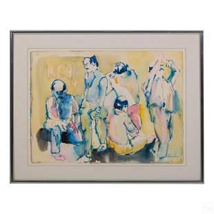 Gino Hollander 1924-2015 Modern Abstract Painting