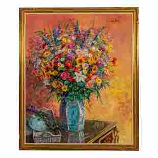 Dan Poole (b.1941) Modern Still Life Oil Painting