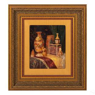 Ludwig Augustin 1882-1960 Still Life Oil Painting