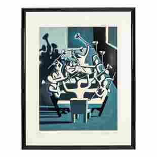 Mark Kostabi (b.1960) LE Abstract Surrealism Print