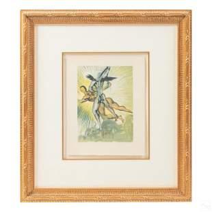 Guardian Angels Art Lithograph after Salvador Dali