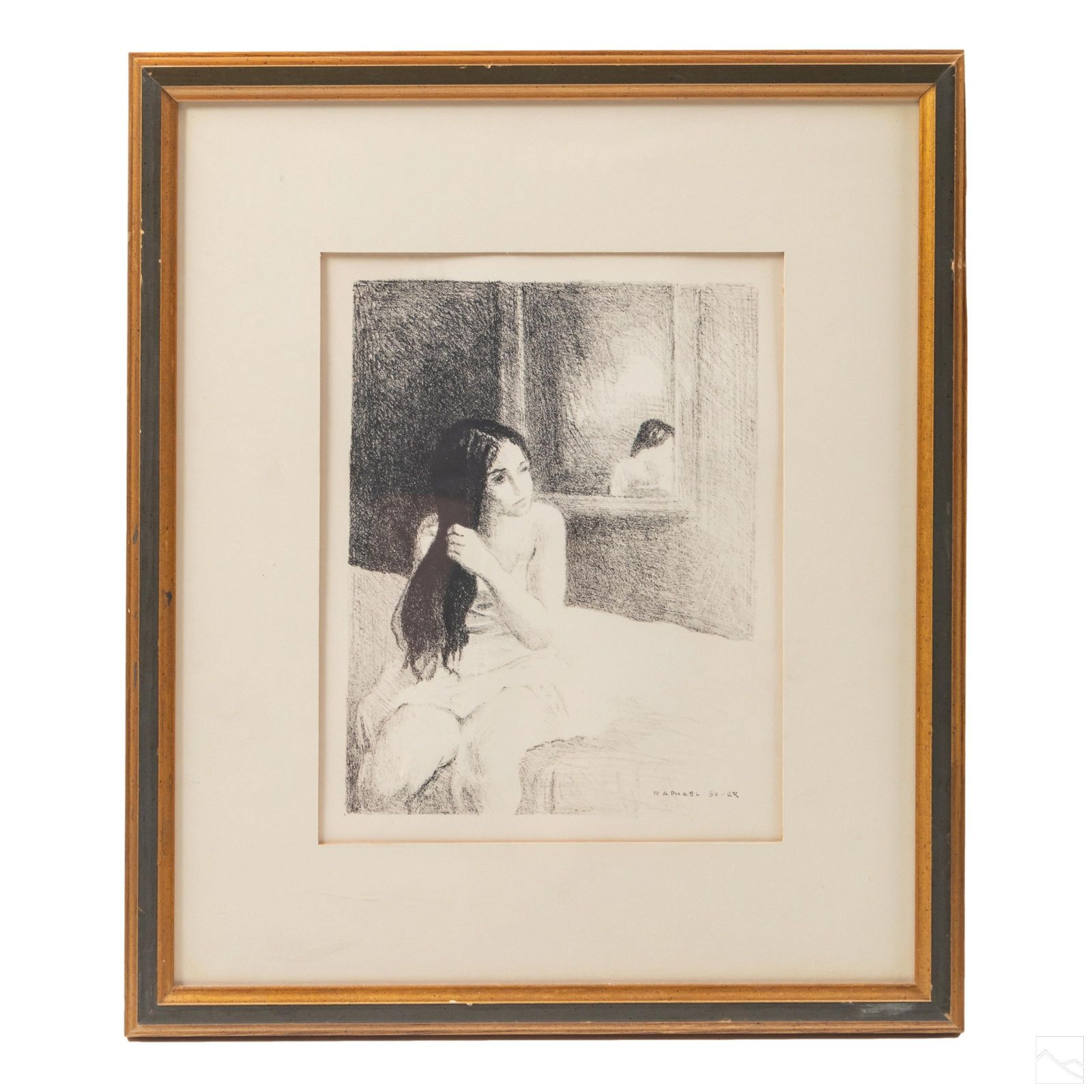 20C. Modern Art Portrait Litho after Raphael Soyer