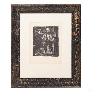 Abstract Black & White Litho after Georges Rouault