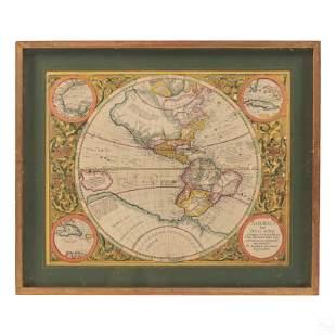 Michael Mercator RARE Antique Map of the Americas