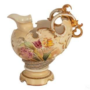 "Robert Hanke 1882-1945 Antique 10"" Porcelain Ewer"