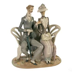 Lladro Fall Leaves Porcelain Figurine Sculpture