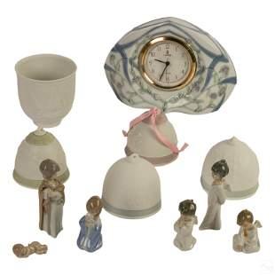 Lladro Spanish Porcelain Clock, Ornaments, Figures