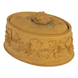 Wedgwood English Caneware Relief Covered Game Dish