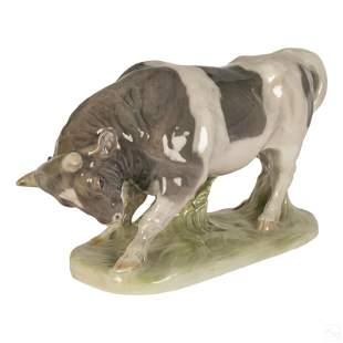 Royal Copenhagen Knud Kyhn Porcelain Bull Figurine