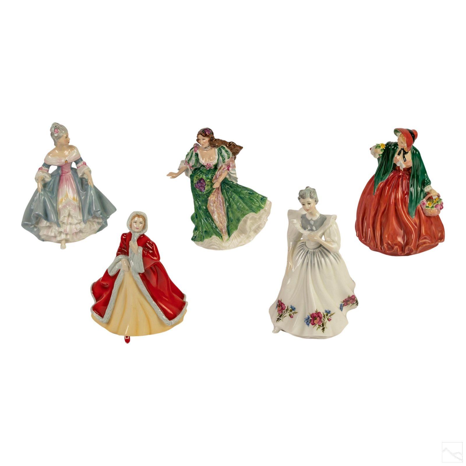 Royal Doulton Glazed English Ceramic Figurines LOT