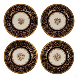 Royal Doulton Higgins Seiter Gilded Dinner Plates