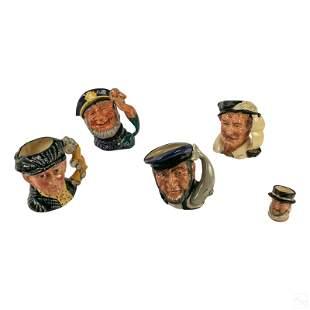 Royal Doulton English Ceramic Character Toby Jugs