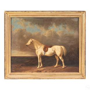 George Van Arden b.1806 Antique Horse Oil Painting