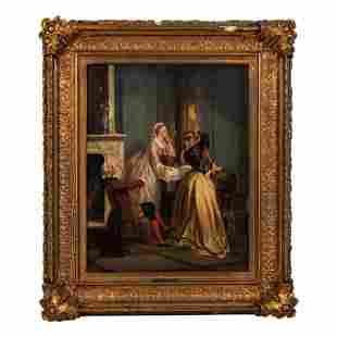 Petrus Theodorus Wijngaerdt 1816-1893 Oil Painting