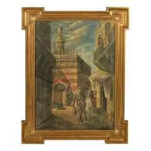 S. Marinelli Italian Orientalist Realism Painting