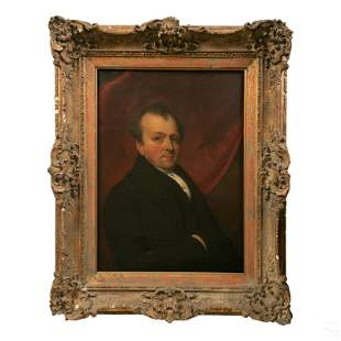 18th to 19th Century Antique Portrait Oil Painting