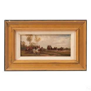 Robert Stone (1820-1870) Hunt Scene Oil Painting