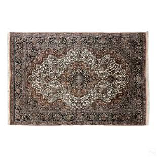Oriental Persian Type Woven Silk 117 x 94 Area Rug