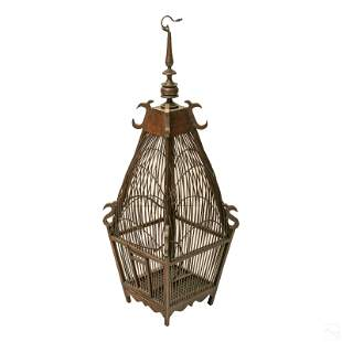 Indonesian Style Bamboo and Wood Bird Finch Cage