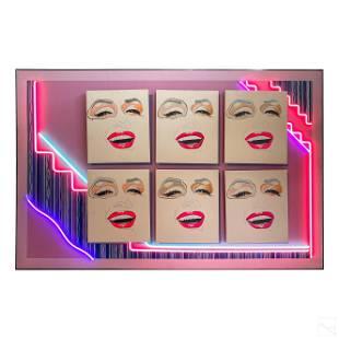 Neon Hexaptych Marilyn Monroe Retro 80's Painting