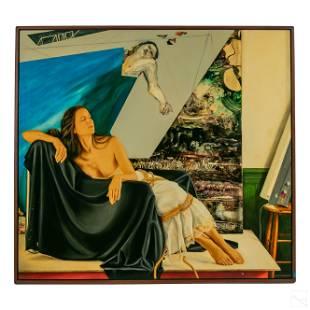 Steve Hawley b.1950 Abstract Figural Art Painting